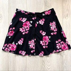 Aeropostale- Floral skater skirt